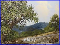 16x20 original 1976 W. A. Slaughter oil painting on canvas Texas Brazos River