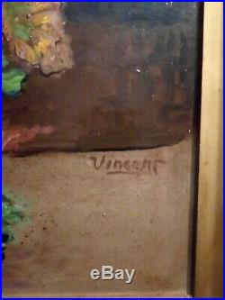 1880s original Oil on Canvas, signed Vincent, Possible Van Gogh