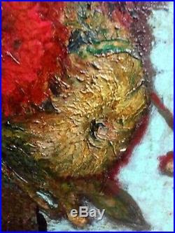 1889 Original Oil on Canvas Signed Vincent, 19th Century Still Life, Van Gogh