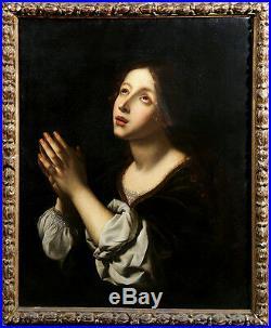 18th Century Follower of Carlo Dolci Italian Religious Oil Painting La Speranza