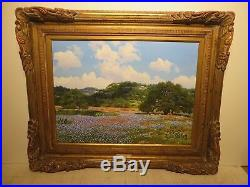 18x24 original 1990 W. A. Slaughter oil painting on canvas Hill Country Haven