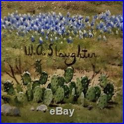 18x24 original W. A. Slaughter oil painting on canvas Hill Country Haven
