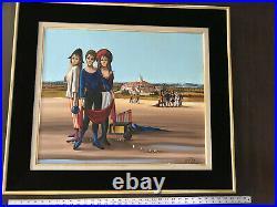 1963 JEAN PIERRE SERRIER1934-1989French SurrealistEmigrantsOil Painting 28