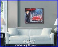 1964 Porsche 356 c, original painting on canvas, 24x 30, automotive art