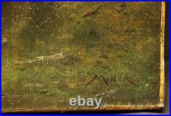 19th Cen Barbizon Landscape style of Robert Crannell Minor (AMERICAN, 18401904)