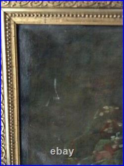 19th Century French Impressionist Oil Painting Bouquet Roses Henri Fantin Latour