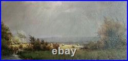19th Century Nantucket Coastal Creek Landscape Oil Painting by Fritz Steinhauer
