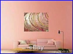 24 X 30 X. 5 Resin geode style original painting on canvas by Kara Fuze
