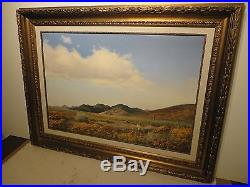 24x36 original 1950 oil painting on canvas by Robert Wood West Texas Panhandle