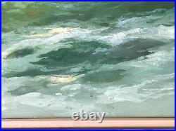 28 x 39 Giuseppe Rossi Italy Seascape Landscape Large Oil Original Painting