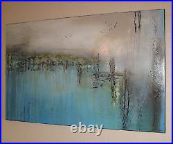 ABSTRACT PAINTING Modern CANVAS WALL ART Direct from Artist, Large US ELOISExxx