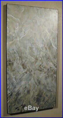 ABSTRACT PAINTING Modern CANVAS WALL ART Framed, Signed, Large USA ELOISExxx