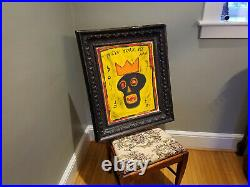 ACRYLIC/MIXED MEDIA ON Board BY JEAN-MICHEL BASQUIAT 1983 UNTITLED Signed