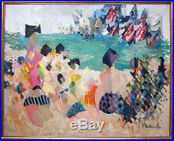 ALFRED CHADBOURN Signed 1953 Original Oil Palisades Amusement Park LISTED