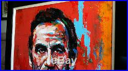 Abraham Lincoln Original Acrylic Painting on Canvas with Frame
