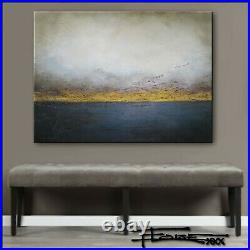 Abstract Painting Modern Canvas Wall Art, Large, Framed, Signed US ELOISExxx