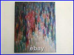 Abstract Painting Multi-Colour Large Original Picture Canvas Wall Art Hand Paint
