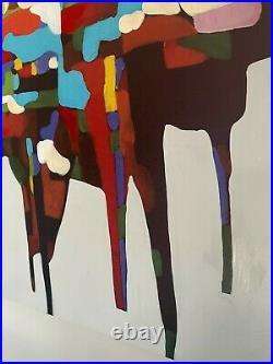 Abstract Piano Painting Large Original Picture Canvas Wall Art Hand Painted