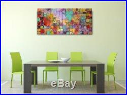 Acrylic Bright Original Contemporary Art Painting On Canvas By Caroline Ashwood