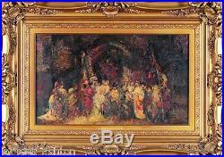 Adolphe Joseph Thomas Monticelli Oil Painting On Canvas Impressionist Van Gogh