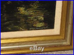 Adriano Manocchia Original Oil Painting on Canvas Flyfishing 12x21 1988