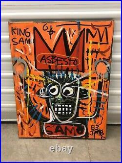 After Jean Michel Basquiat Original Canvas Painting