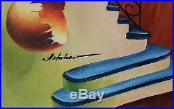 Alexander Astahov Surrealist Original Oil on Canvas 24x36in. Titled Maestro