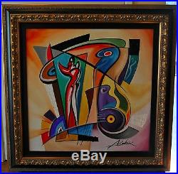 Alfred Gockel- ORIGINAL acrylic painting on canvas 32x32, framed