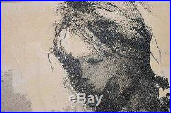 American Artist Gino Hollander, Original Oil Painting On Canvas Signed