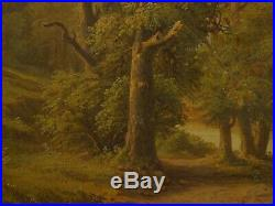 American Hudson River Valley Antique Landscape Oil Painting, Unsigned, 19th C
