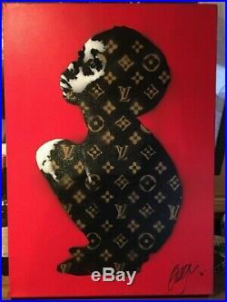 An Original Beejoir LV Child Canvas Signed & dated 2006 Banksy