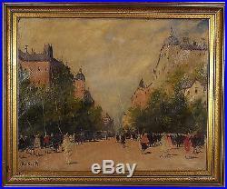 Antal Berkes (Hungarian, 1874-1938) Original Oil Painting on Canvas Signed
