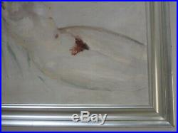 Antique Art Deco Impressionist Nude Painting 1930's Woman Female Model Pretty