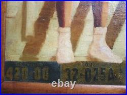 Antique Black Americana Painting Georgia Plates 1930's African American Wpa Era