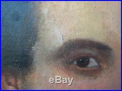 Antique FEDERAL Southern GENTLEMAN Plantation Owner Oil PORTRAIT Painting c1850s