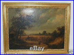 Antique Oil Painting On Canvas' John Linnell' 1792-1882. Original Painting