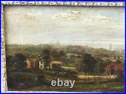 Antique Oil on Canvas Landscape Painting Signed Spencer