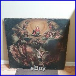 Antique Old Master Oil Painting Resurrection Jesus Federico Barocci Bible 17th C