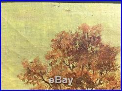 Antique Original Oil on Canvas Painting 10x14 Landscape Signed George Bogert