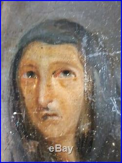 Antique Painting Christ Carried to the Tomb Oil On Canvas Original Old Vintage