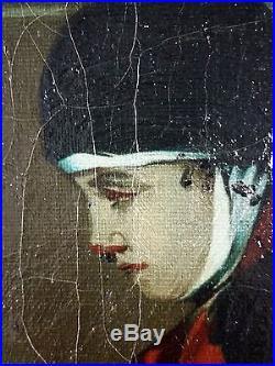 Antique Painting François Dumont (1850) Oil On Canvas Original Old