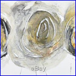 Antique Roses Original Modern Art Abstract Caroline Ashwood On Canvas Painting