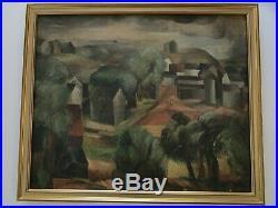 Antique Wpa Era Impressionist Painting Landscape Modernism Expressionism Master