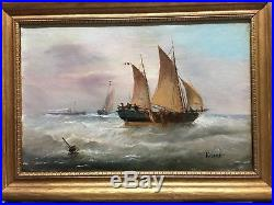 Antique oil painting (1890-1900s) Original On Canvas! Signed By Artist Varnet