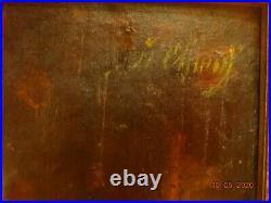 Antique oil painting Portrait of the Man
