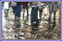 Antoine Blanchard Original Oil Painting On Canvas Paris Cityscape Signed Artwork