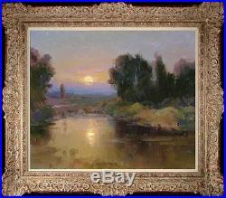 Art Original Oil Painting Impressionism Landscape Tree on Canvas 20x24