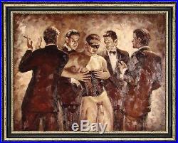 Art Original Oil Painting Impressionism Portrait Male nude on canvas 30x40