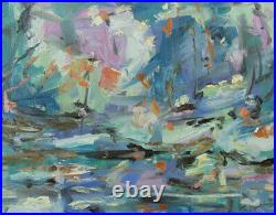 Art Original Oil Painting by RM Mortensen Landscape Nature Flowers Trees