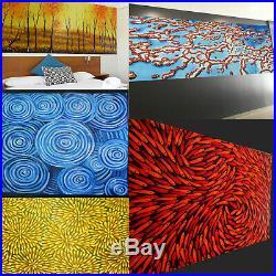 Art Original Painting artwork Oil Canvas Fish blue Modern Australia dots